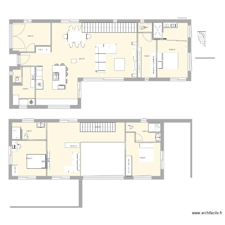 la moutonne 3 plan 15 pi ces 179 m2 dessin par feelv. Black Bedroom Furniture Sets. Home Design Ideas