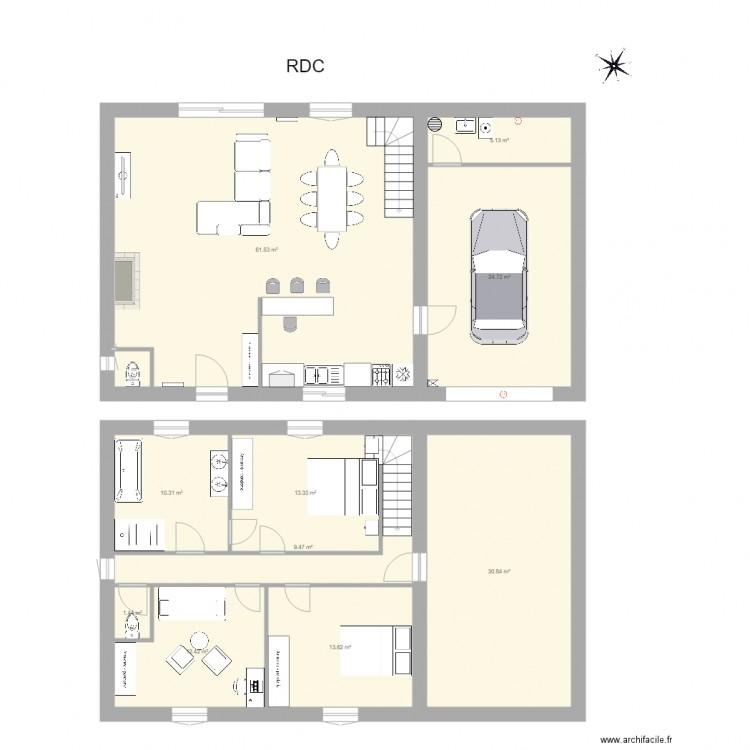 Ma maison plan 11 pi ces 184 m2 dessin par emmanuel bonneau for Dessine ma maison gratuitement