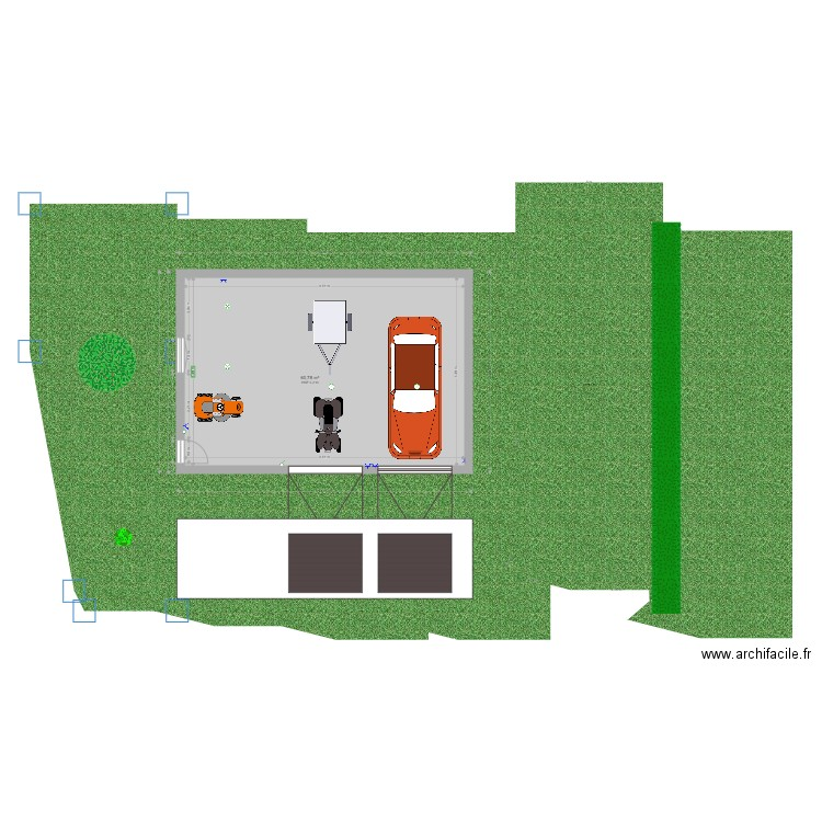 garage double ind pendant vb plan 1 pi ce 73 m2 dessin par valou2. Black Bedroom Furniture Sets. Home Design Ideas