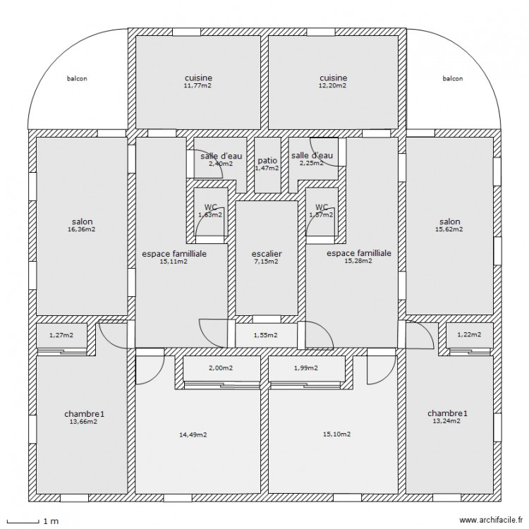 Plan facade 150m2 dakar maison moderne for Plan maison 150m2 senegal