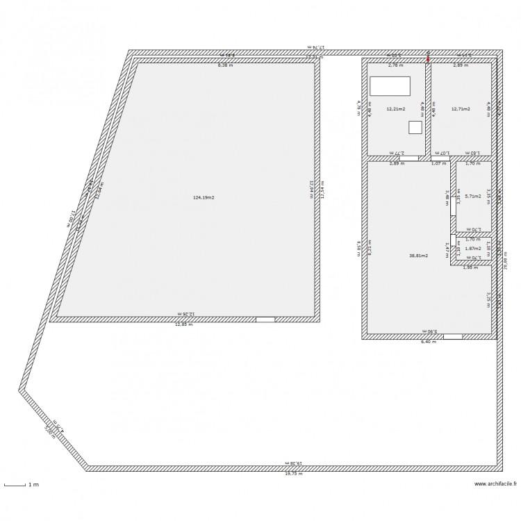 terain plan 7 pi ces 587 m2 dessin par i2m. Black Bedroom Furniture Sets. Home Design Ideas