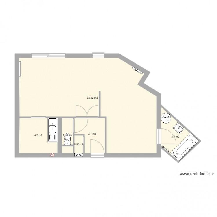 plan appart plan 6 pi ces 45 m2 dessin par cmartinet. Black Bedroom Furniture Sets. Home Design Ideas