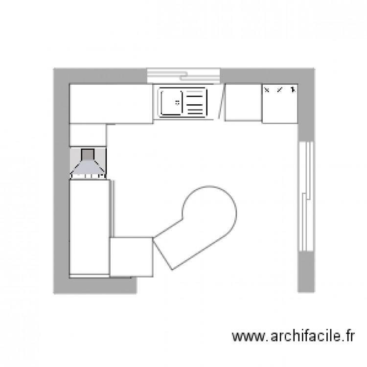 Cuisine plan dessin par cier6431 - Cuisine amenagee pour petite piece ...