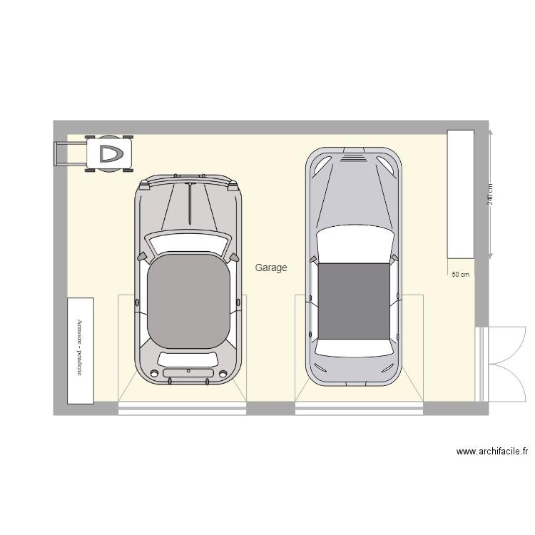 Charmant Plan Garage Toit Plat. Plan De 1 Pièce Et 38 M2