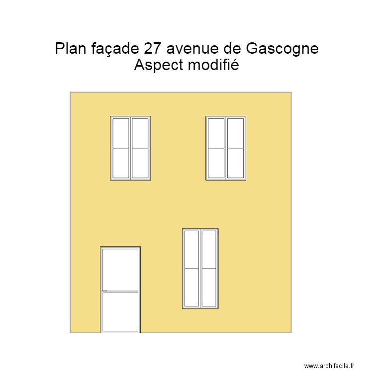 plan fa ade avant aspect modifi plan 1 pi ce 33 m2 dessin par flomaib. Black Bedroom Furniture Sets. Home Design Ideas