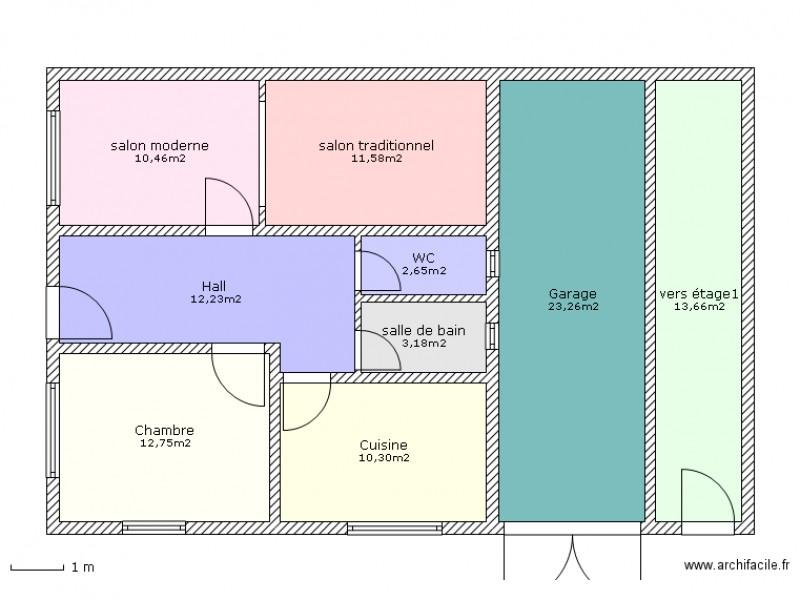 maison marocaine plan 9 pices 100 m2 dessin par boulmane - Plan De Construction De Maison Gratuit Au Maroc