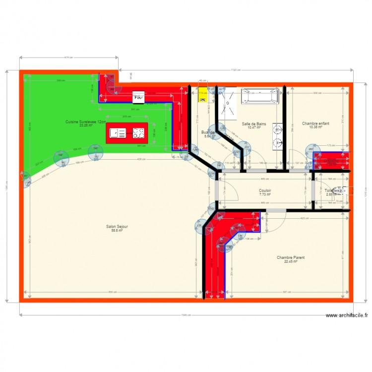 Maison pierre 2 plan 9 pi ces 154 m2 dessin par coinjimmy - Plan de maison 2 pieces ...