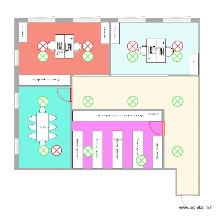 Bureau grenoble v2 plan 5 pi ces 92 m2 dessin par - Bureau des hypotheques grenoble ...