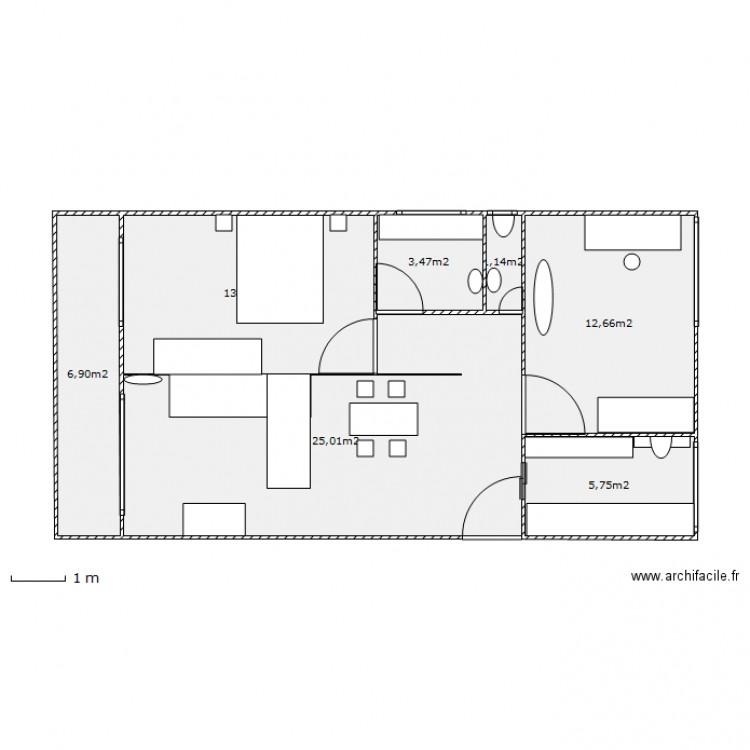 plan appartement 22 m2