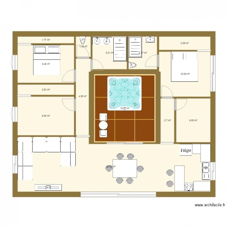 maison passive pacio plan 14 pi ces 123 m2 dessin par paulodebordeaux. Black Bedroom Furniture Sets. Home Design Ideas