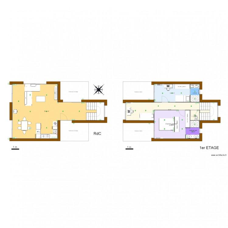 Maison container plan 7 pi ces 112 m2 dessin par fabien edelen - Forum maison container ...