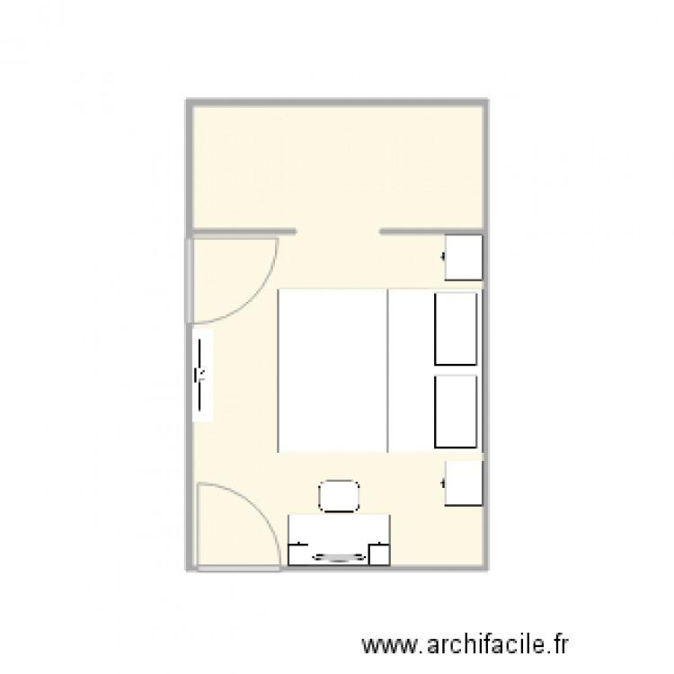 Suite parentale plan 1 pi ce 12 m2 dessin par toniojhen for Plan suite parentale 12m2