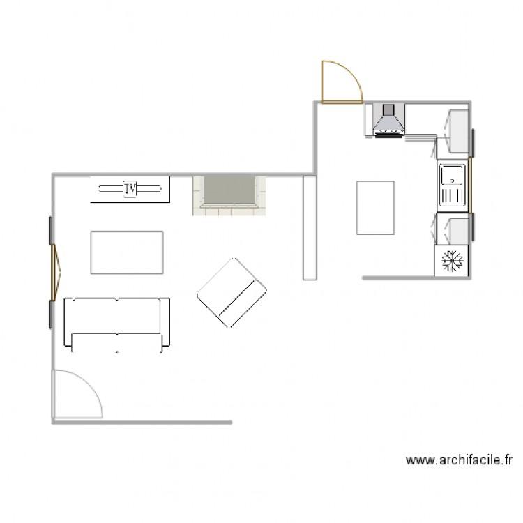Projet cuisine 2 plan dessin par vincentdeschamps for Projet cuisine en ligne