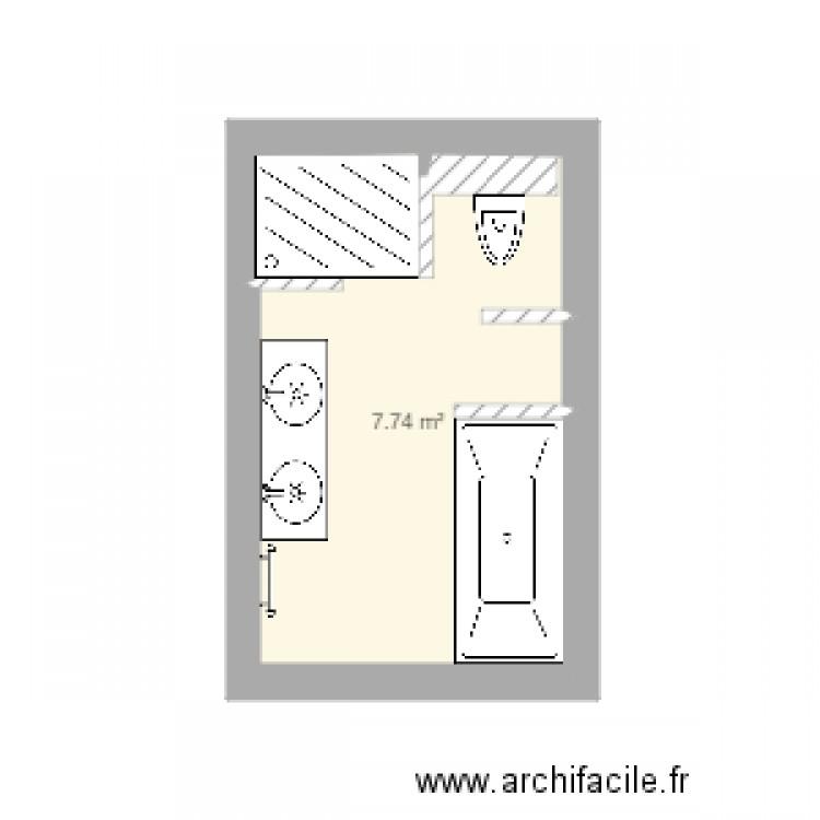 New Salle De Bains Plan 1 Pi Ce 8 M2 Dessin Par Bruyere1966