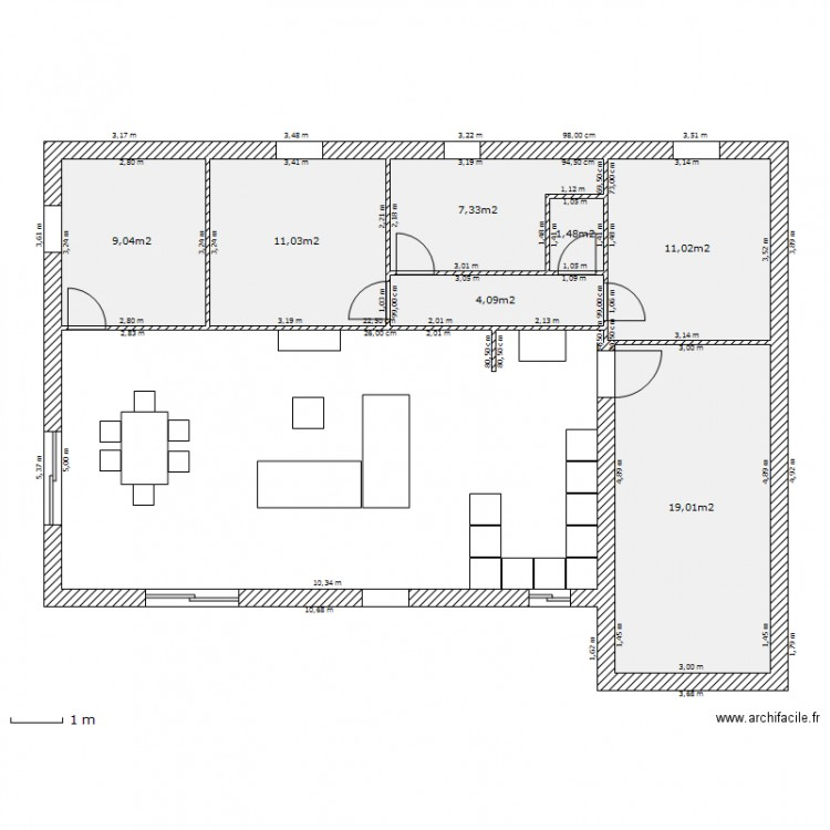 plan appartement 63m2