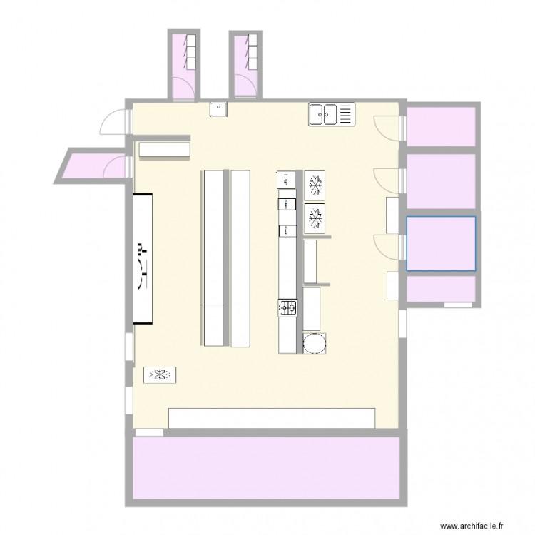 Stage cuisine 1 plan 9 pi ces 122 m2 dessin par lele69 for Stage de cuisine gratuit