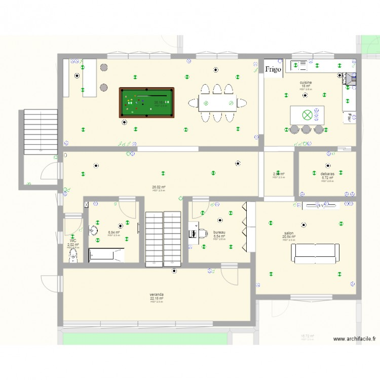 Maison complete sur dimension plan 31 pi ces 971 m2 for 971 salon monticello ar
