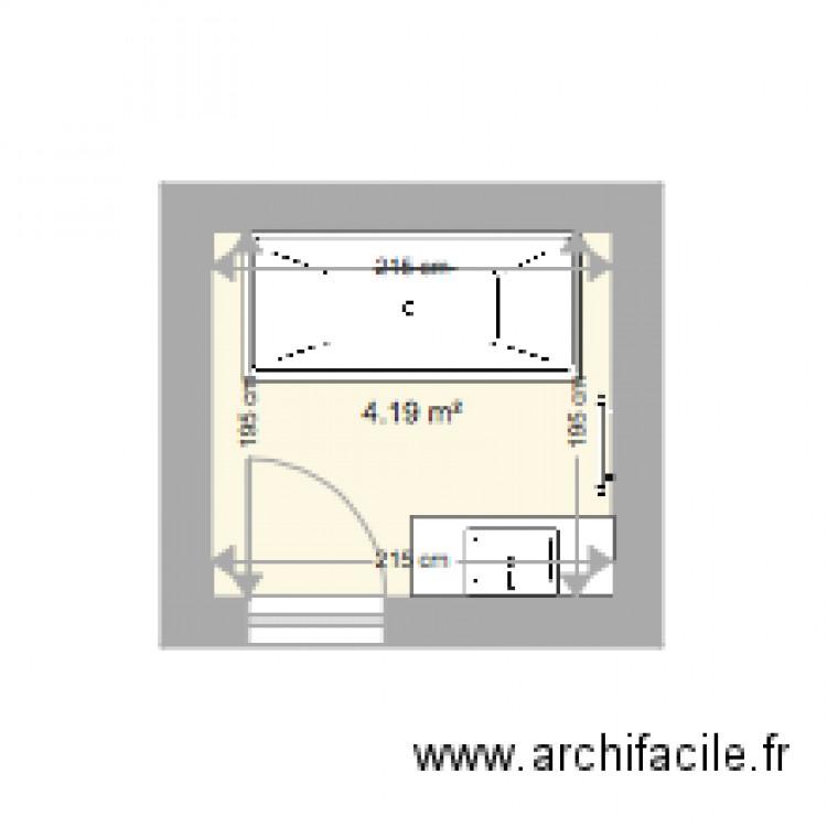 sdb haut plan 1 pi ce 4 m2 dessin par tranber72. Black Bedroom Furniture Sets. Home Design Ideas
