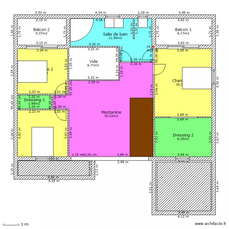 Maison cubique plan 12 pi ces 123 m2 dessin par laury72 for Plan maison cubique 150 m2