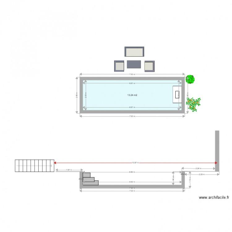 plan en coupe piscine 4 plan 1 pi ce 13 m2 dessin par basquiat83. Black Bedroom Furniture Sets. Home Design Ideas