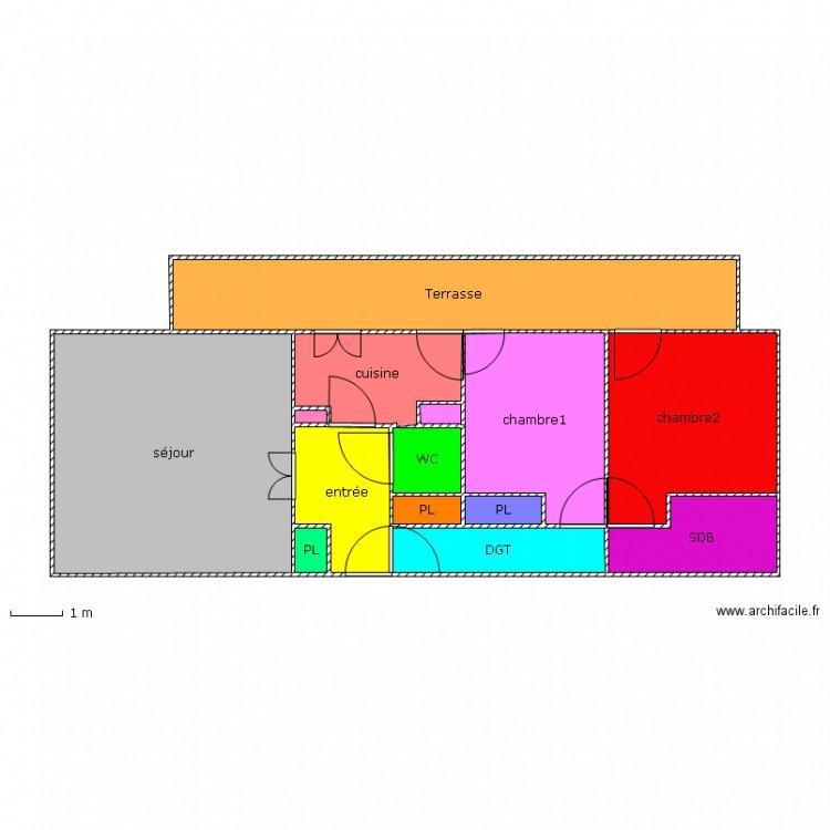 la plan l gend d 39 un appartement plan 13 pi ces 77 m2 dessin par aurore83110. Black Bedroom Furniture Sets. Home Design Ideas
