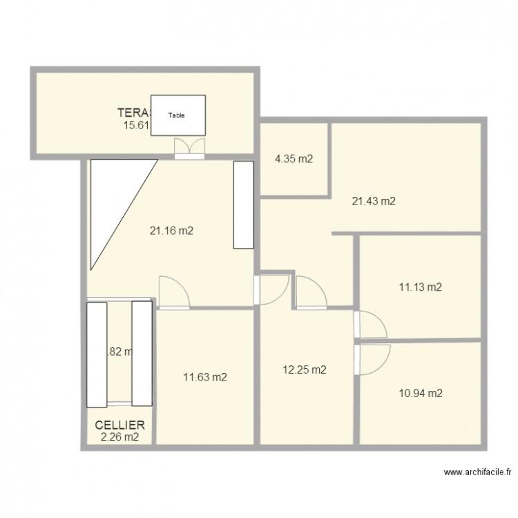 Plan maison 21 plan 10 pi ces 117 m2 dessin par jl9722 for Plan de maison 5 pieces