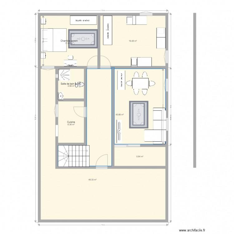 Eta1 plan 7 pi ces 140 m2 dessin par douks - Consommation electrique moyenne maison 140 m2 ...