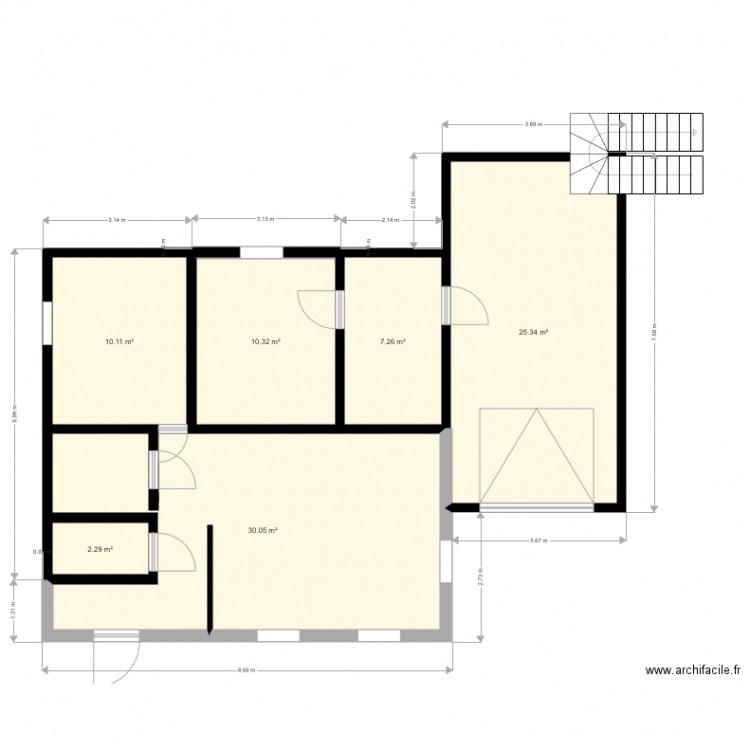 Maison mca plan 6 pi ces 85 m2 dessin par zazou01170 for Plan maison mca