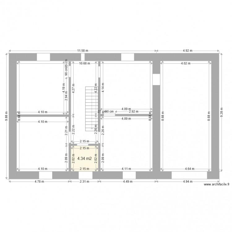 Maison 1er niveau origine complet plan 1 pi ce 4 m2 for Plan complet maison