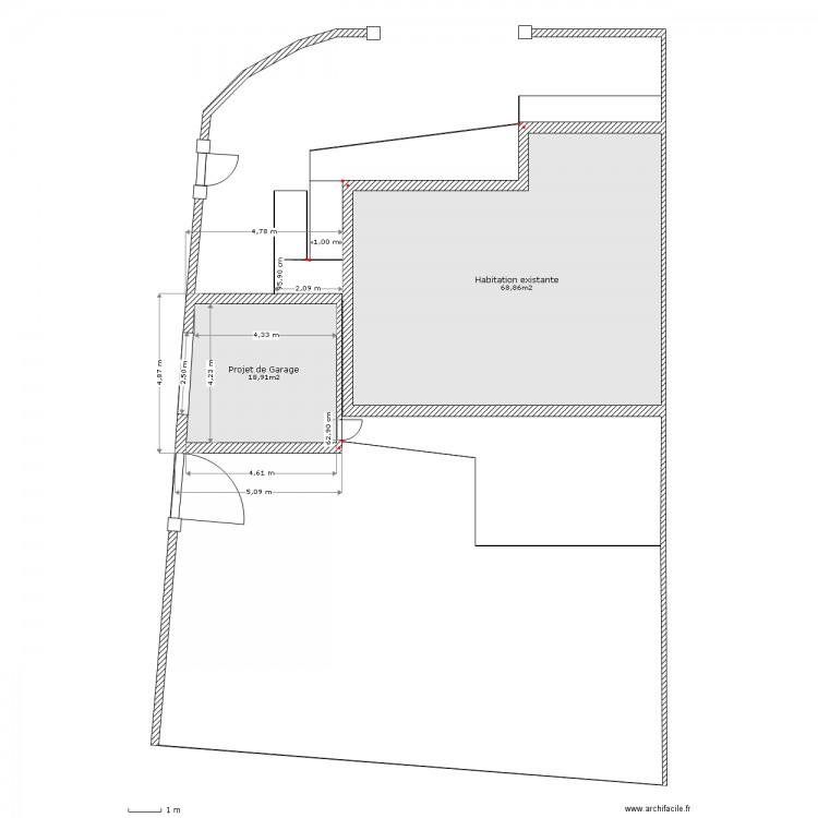 Plan de masse garage plan 2 pi ces 88 m2 dessin par fred32 - Dessiner un plan de masse ...