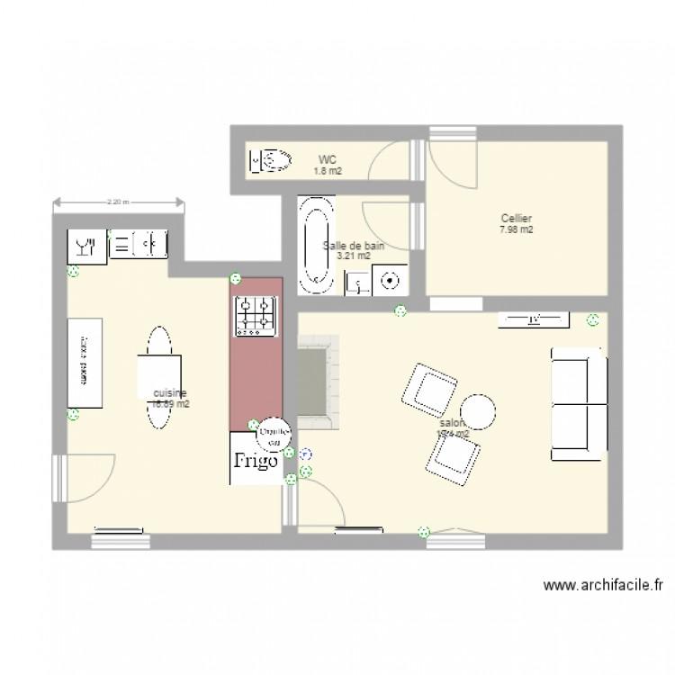 plan appartement 49 m2