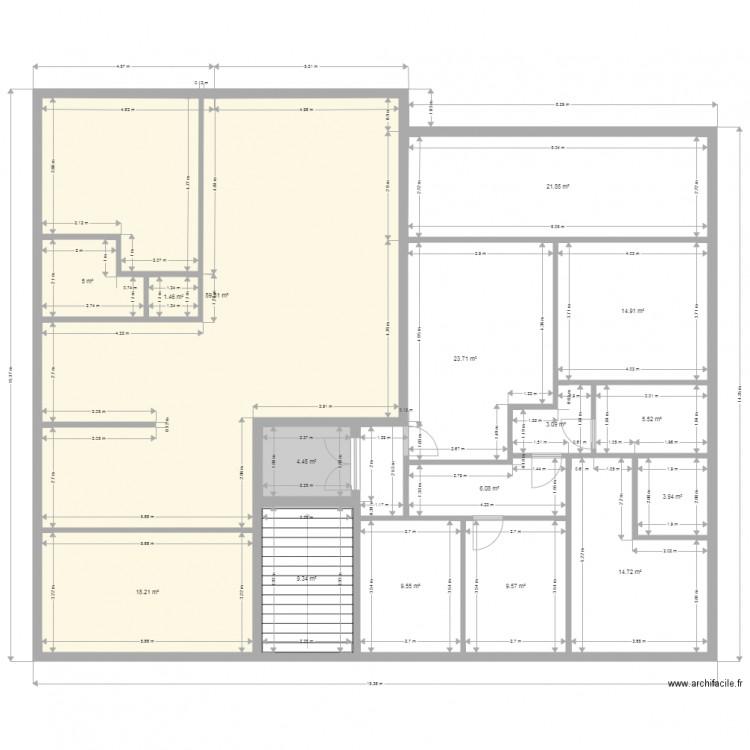 Maison plan 16 pi ces 241 m2 dessin par nidal1980 for Taille moyenne maison