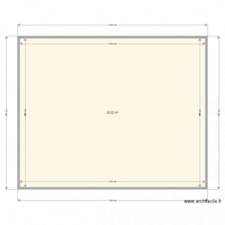 Plan avec doublage et mur interieur plan 1 pi ce 80 m2 for Doublage mur interieur
