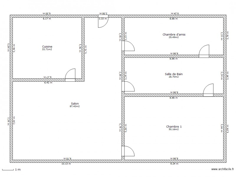 Maison De Sweet Home 3d Plan 5 Pieces 229 M2 Dessine Par Sachabr1