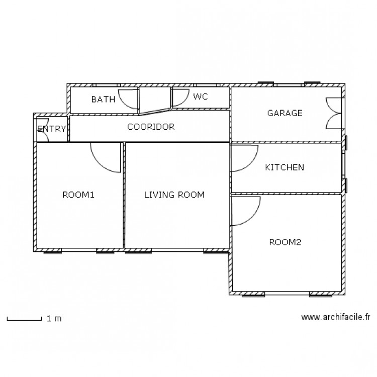 maison bioclimatique plan 10 pi ces 44 m2 dessin par madjmaa. Black Bedroom Furniture Sets. Home Design Ideas