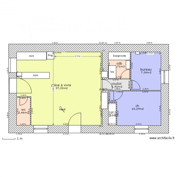 plan appartement 64m2