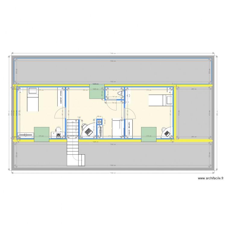 comble avec toilette plan 12 pi ces 123 m2 dessin par jeanbaltavist. Black Bedroom Furniture Sets. Home Design Ideas