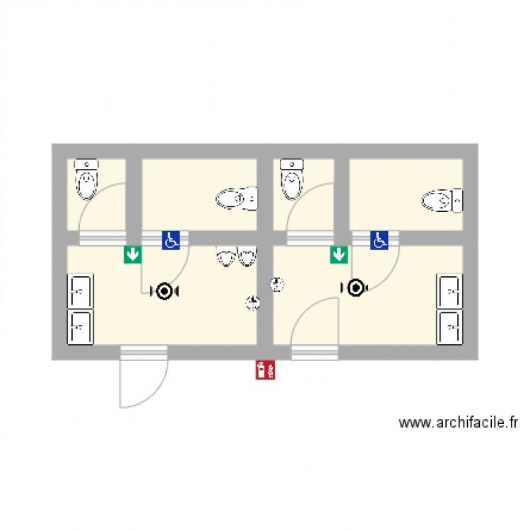 toilette plan 6 pi ces 18 m2 dessin par antoine 49. Black Bedroom Furniture Sets. Home Design Ideas