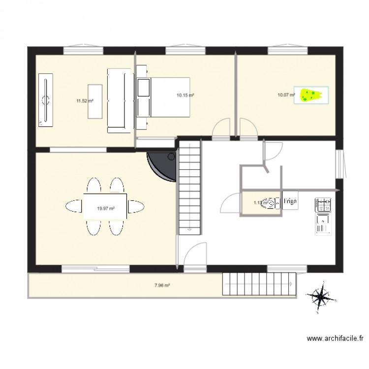 Maison sassierge modifier plan 6 pi ces 61 m2 dessin for Modifier plan maison