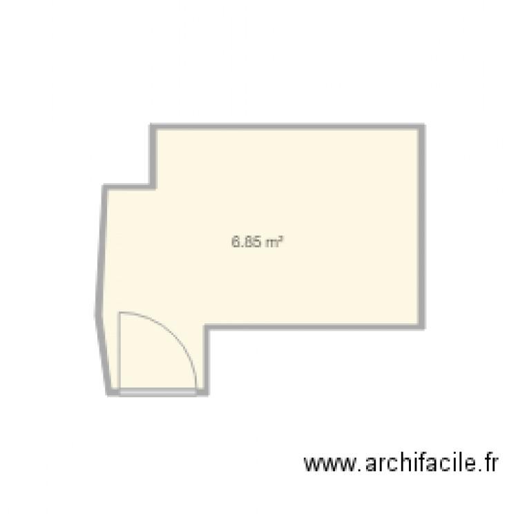 Salle de bain plan 1 pi ce 7 m2 dessin par cigales06 for Salle de bain 7 5 m2