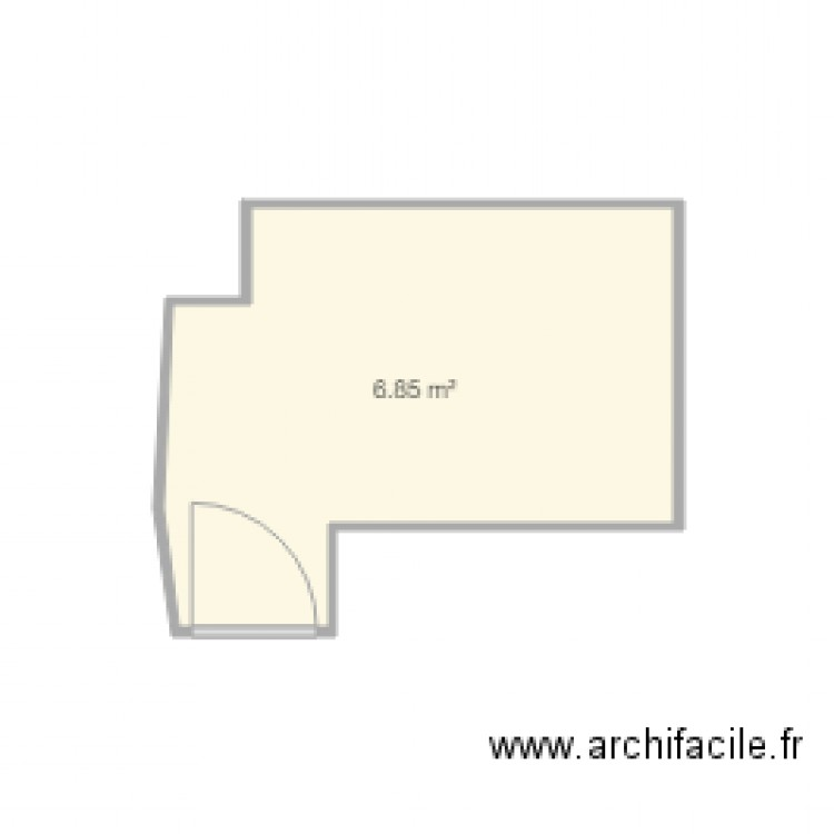 salle de bain plan 1 pi ce 7 m2 dessin par cigales06. Black Bedroom Furniture Sets. Home Design Ideas