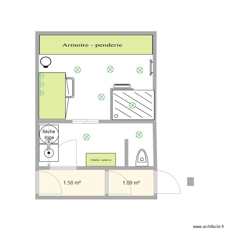 Salle De Bain 1 Plan 1 Pi Ce 16 M2 Dessin Par Fabienne