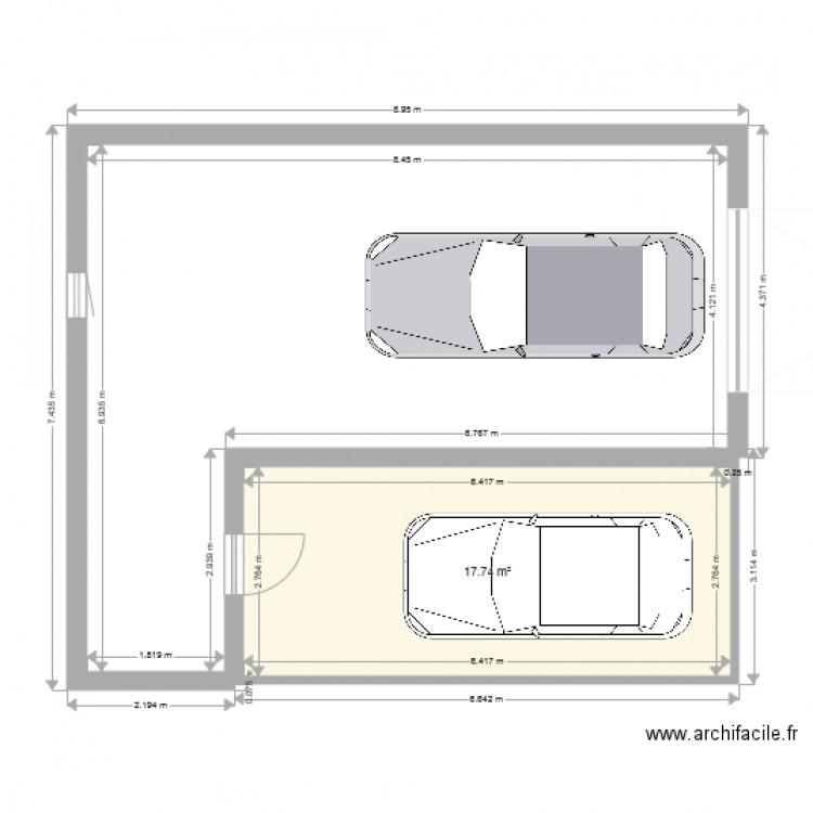 Garage annexe plan 1 pi ce 18 m2 dessin par nicomag71 - Construire maison pour louer ...