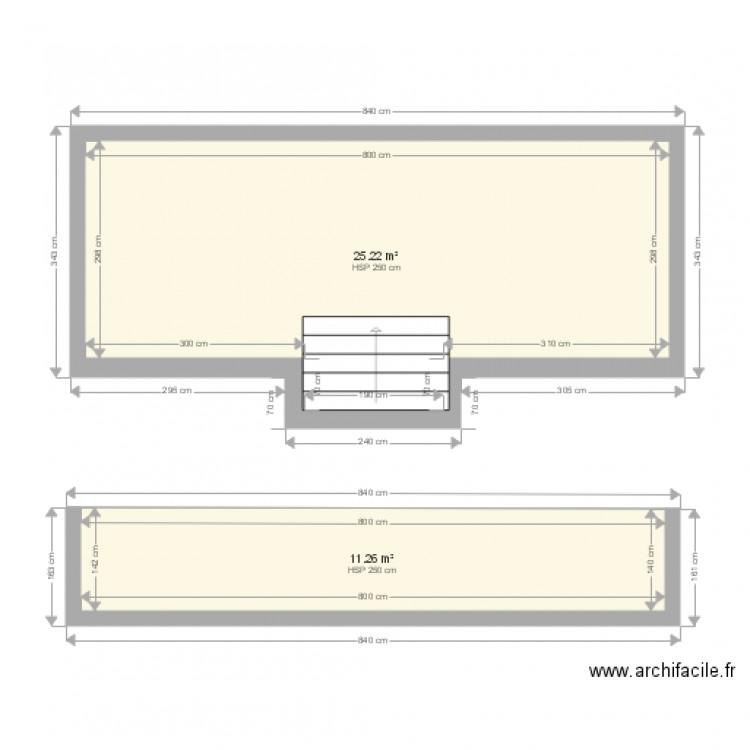 plan et coupe piscine avec escalier plan 2 pi ces 36 m2 dessin par philippe069. Black Bedroom Furniture Sets. Home Design Ideas