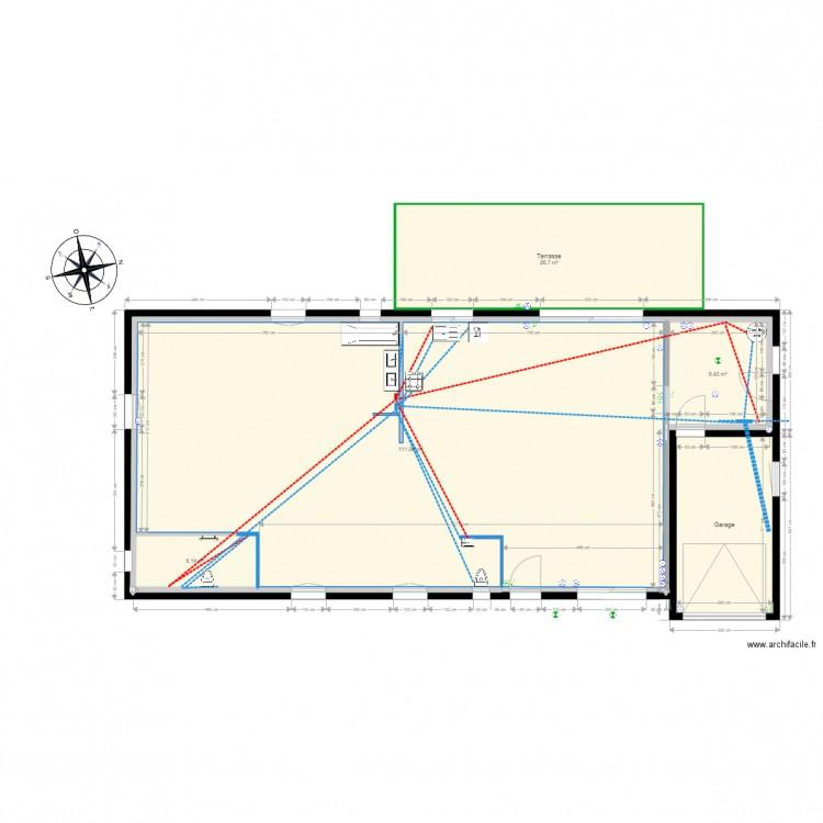 Plan Maison Reseaux Plomberie Plan 6 Pieces 166 M2 Dessine Par Mimititi