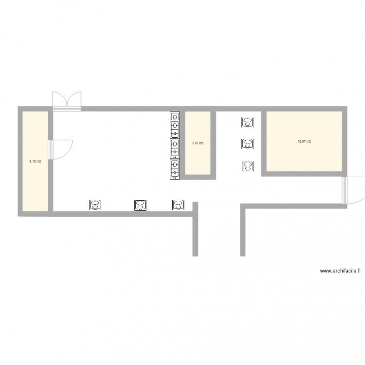 Bureau plan 3 pi ces 21 m2 dessin par alm11980 for Nombre de m2 par personne bureau