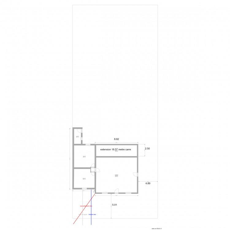 Plan de masse cote dans les 3 dimensions extension plan 6 pi ces 870 m2 dessin par volant morgan - Plan de masse cote dans les 3 dimensions ...