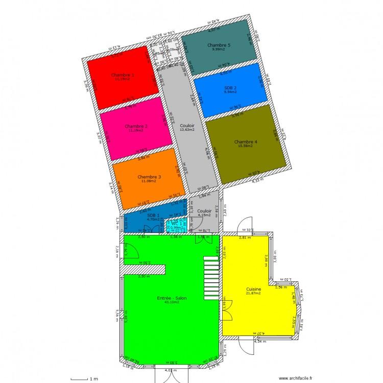 maison plain pied avec mezzanine plan de 14 pices et 159 m2 - Maison Plain Pied Avec Mezzanine