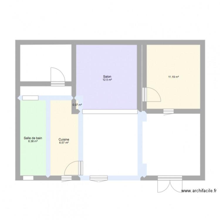 Maison de famille plan 5 pi ces 37 m2 dessin par ncncc for Plans de maison de famille