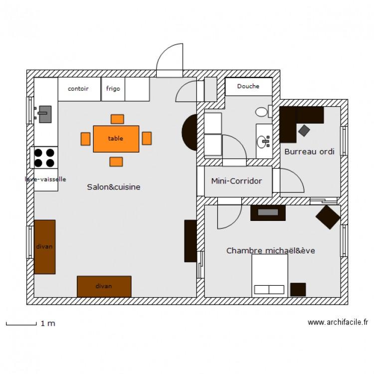 plan appartement 68 m2